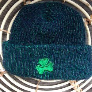 6-12m fold over clover knit toque.